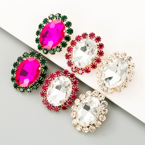 aretes simples de aleación ovalada de diamantes S925 NHLN284967's discount tags