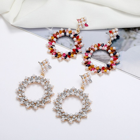 pendientes bohemios con flores de diamantes NHLN284969's discount tags
