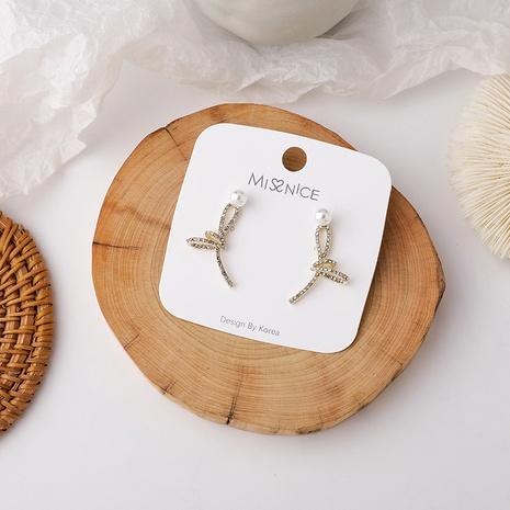 pendientes de metal con nudo de perlas NHMS285000's discount tags