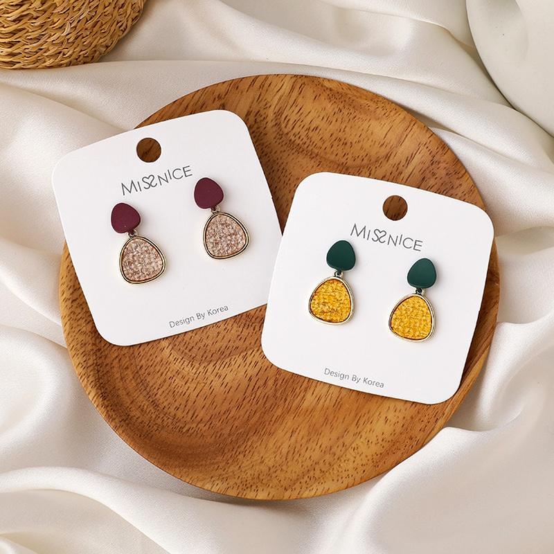 plush fashion irregular disc earrings NHMS285012
