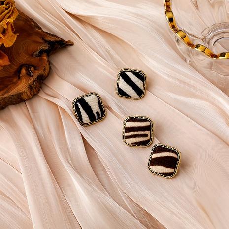 pendientes de cebra de moda retro NHMS285014's discount tags
