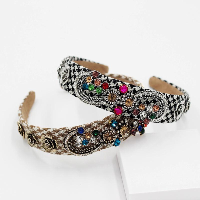 New fashion diamond-encrusted hair band NHWJ285027