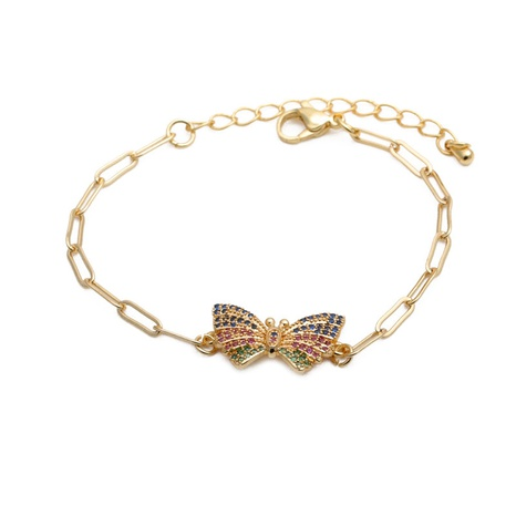 micro-inlaid zircon butterfly adjustable bracelet NHYL285042's discount tags