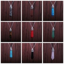 Hexagonal Column Pendant Stainless Steel Turquoise Necklace  NHYL285064