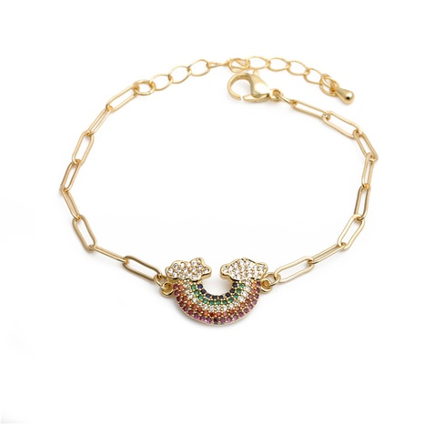rainbow adjustable bracelet  NHYL285070's discount tags