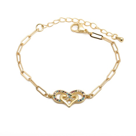 zirconium heart-shaped 8 hip-hop adjustable bracelet  NHYL285069's discount tags