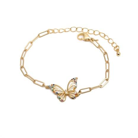 bracelet ajustable papillon zircon micro-incrusté hip-hop NHYL285073's discount tags