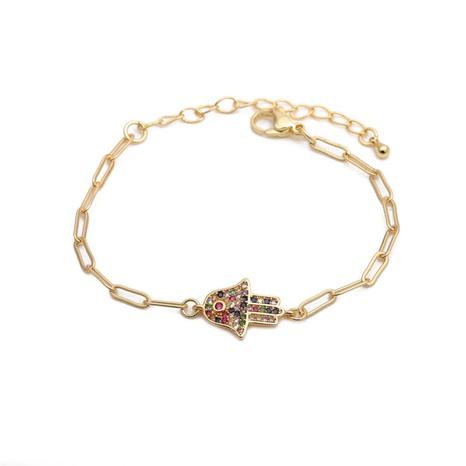 hip hop Devil's eye palm adjustable bracelet  NHYL285075's discount tags