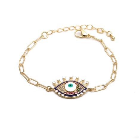 Inlaid Zirconium Demon Eyes Adjustable Bracelet  NHYL285076's discount tags