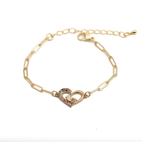 micro-inlaid zircon heart foot adjustable bracelet NHYL285080's discount tags
