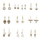 microinlaid zircon star earrings  NHYL285084