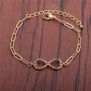 Zirconium Heart 8 Adjustable Bracelet  NHYL285093