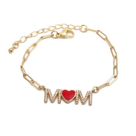 Mikro-eingelegtes verstellbares Zirkon-MOM-Armband NHYL285095's discount tags