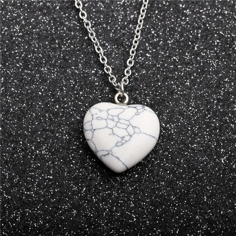 Collier pendentif coeur pêche pin blanc NHYL285106's discount tags