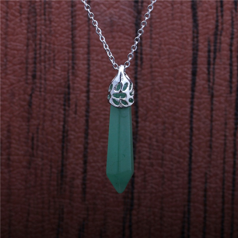 hexagonal column pendant stainless steel necklace NHYL285121