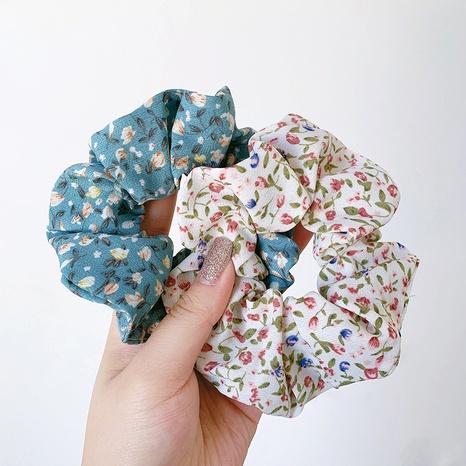 Scurnchies de cheveux gros intestin en mousseline de soie florale rétro française NHOF285154's discount tags