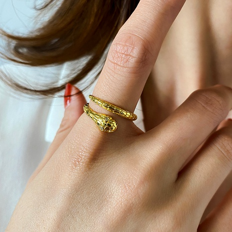 opening adjustable fashion retro snake-shaped ring  NHDP285169's discount tags