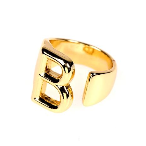 anneau ouvert en cuivre plaqué 18K 26 lettre anglaise NHPY285216's discount tags