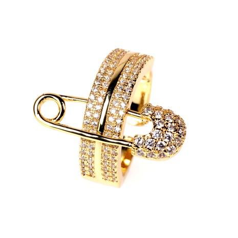 bague en diamant à boucle ouverte à trois anneaux NHPY285221's discount tags