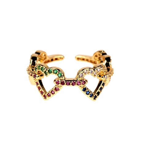 fashion hollow colorful zircon heart ring  NHPY285223's discount tags