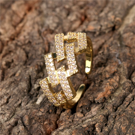 Micro-inlaid Zircon Hip Hop Ring Wholesale NHPY285226's discount tags