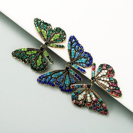 pendientes de diamantes de color de alas de mariposa NHLN285233's discount tags