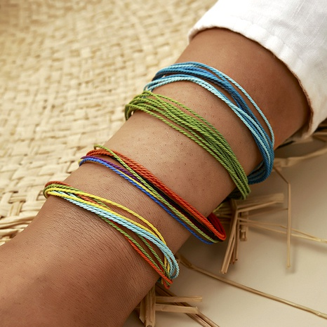 Bohemian Color Knotted Rope Hand-woven Bracelet Set NHGY285581's discount tags