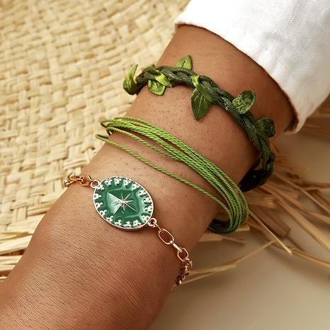Bohemia Leaves Star Bracelet Set  NHGY285586's discount tags