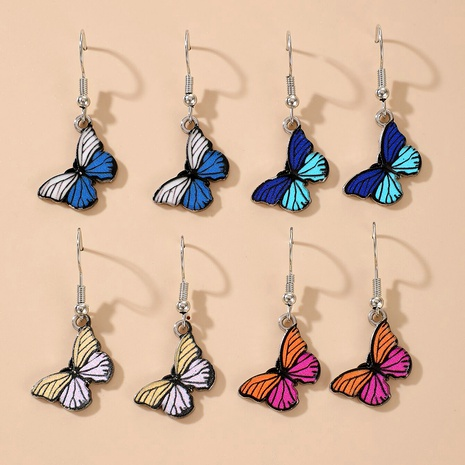 Fashion Butterfly Epoxy Earrings NHGY285653's discount tags