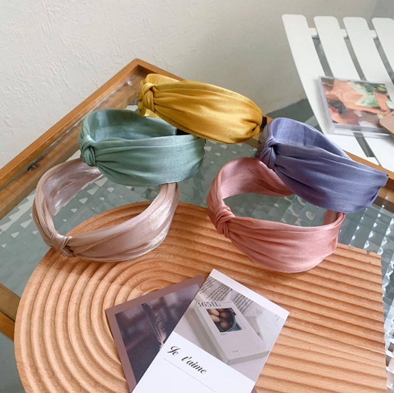 Korean  simple net yarn knotted headband  NHSM284979