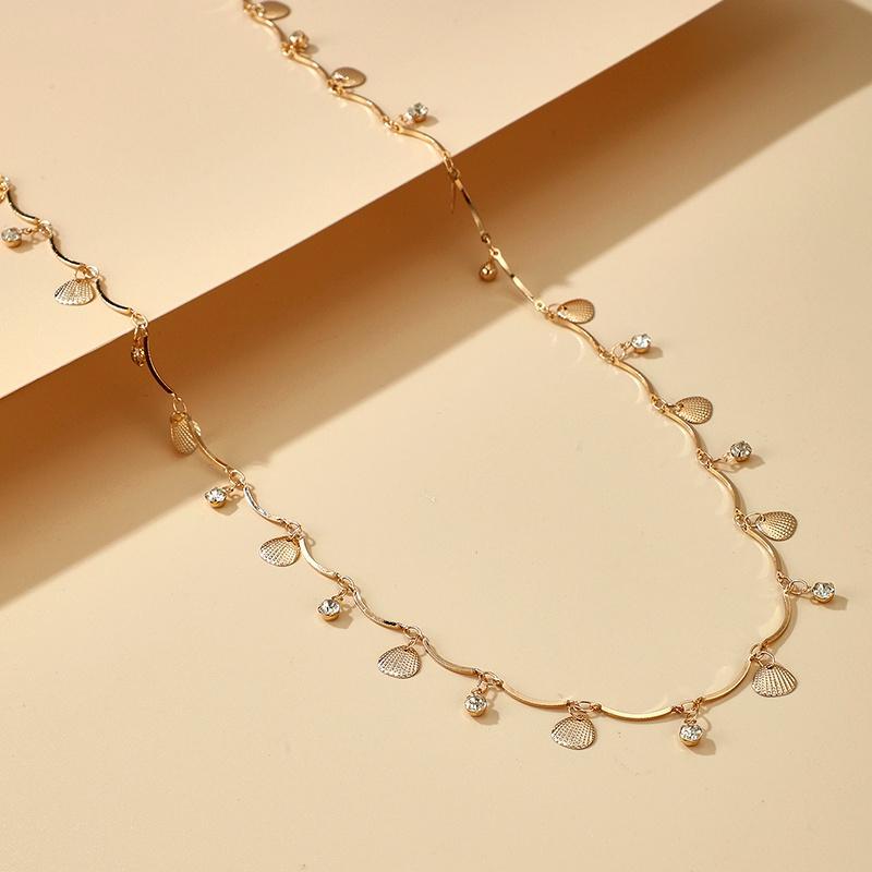 Shell Rhinestone Irregular Adjustable Waist Chain  NHGY284773