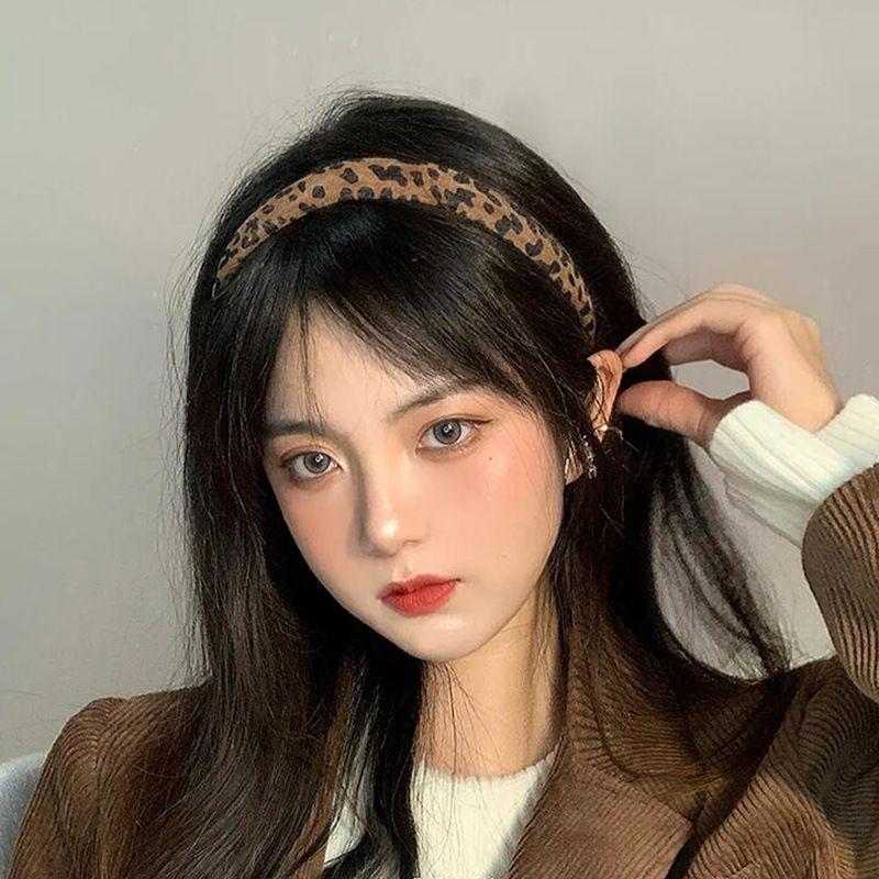 Korea new  leopard print headband NHCQ277017