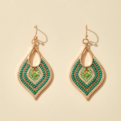 ethnic style rice beads leaf earrings NHGY277079's discount tags