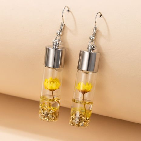 flower specimen glass bottle earrings NHGY277083's discount tags