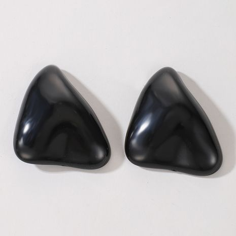 boucles d'oreilles irrégulières noires rétro foncées exagérées NHGY277085's discount tags