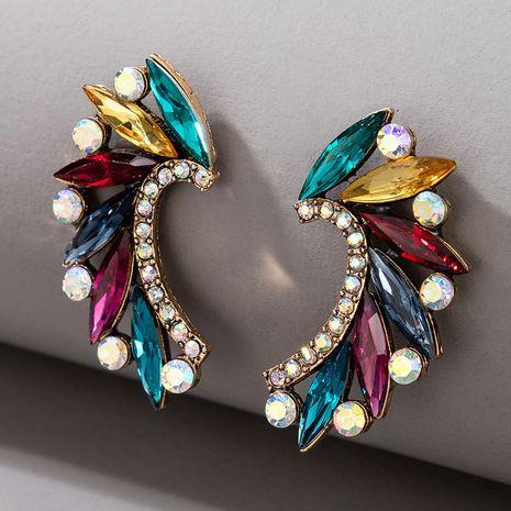Boucles d'oreilles en forme de coeur diamant coloré à la mode NHGY277088's discount tags