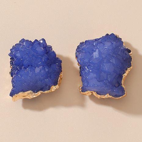 pendientes de cristal de piedra natural azul de moda NHGY277093's discount tags