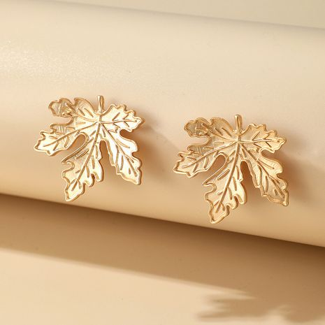 retro alloy leaf earrings NHGY277094's discount tags