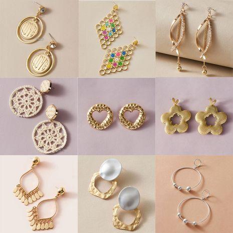Pendientes de perlas de borla de letra circular simple de moda coreana NHGY277095's discount tags