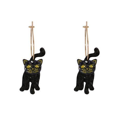 Boucles d'oreilles chat noir Halloween NHJJ277174's discount tags