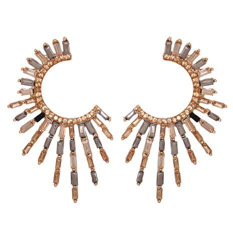 boucles d'oreilles en alliage de diamant en forme de C NHJJ277179's discount tags
