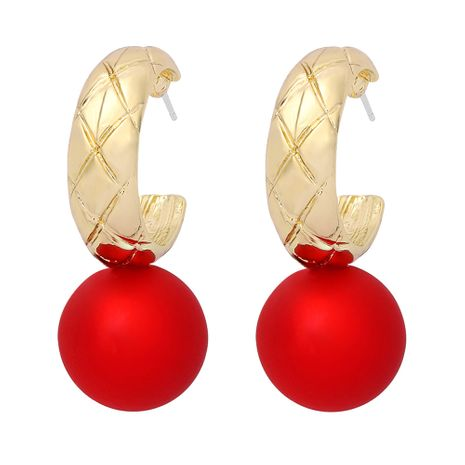 fashion round bead pendant earrings NHJQ277184's discount tags
