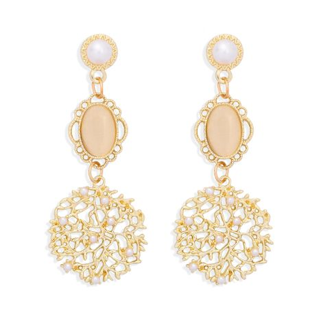 fashion hollow snowflake alloy earrings NHJQ277186's discount tags