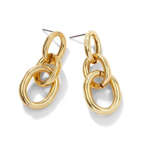 retro gold chain earrings  NHJQ277190's discount tags