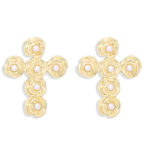 retro cross earrings NHJQ277197's discount tags