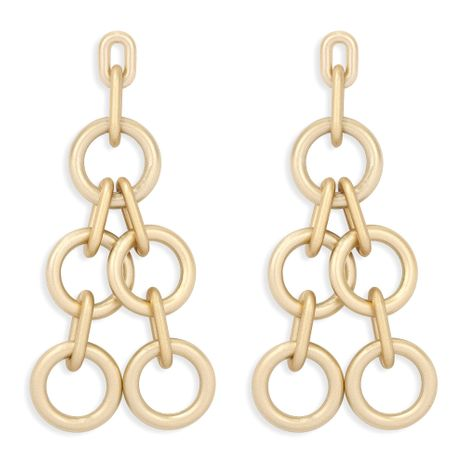 golden chain light luxury long earrings  NHJQ277202's discount tags