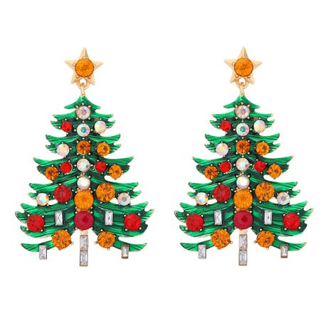 Christmas tree earrings NHJQ277204's discount tags