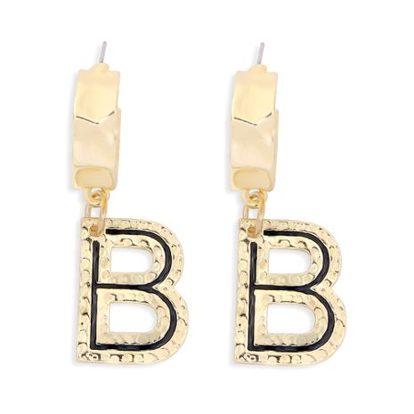 English letter exaggerated B earrings wholesale NHJQ277206's discount tags