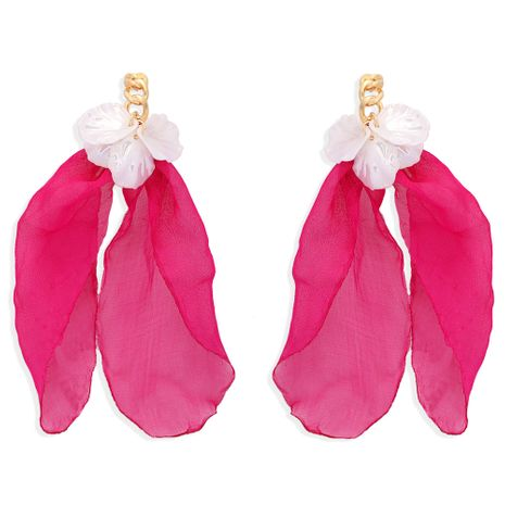 retro elegant chiffon exaggerated tassel earrings  NHJQ277208's discount tags