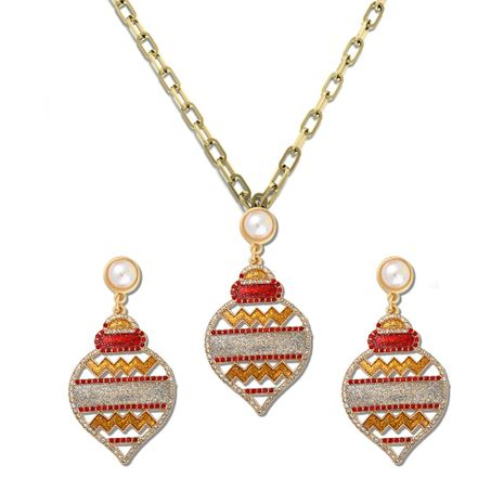 new  color lantern earrings necklace set  NHJQ277213's discount tags